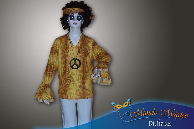 Hippie amarilla con pantalón blanco