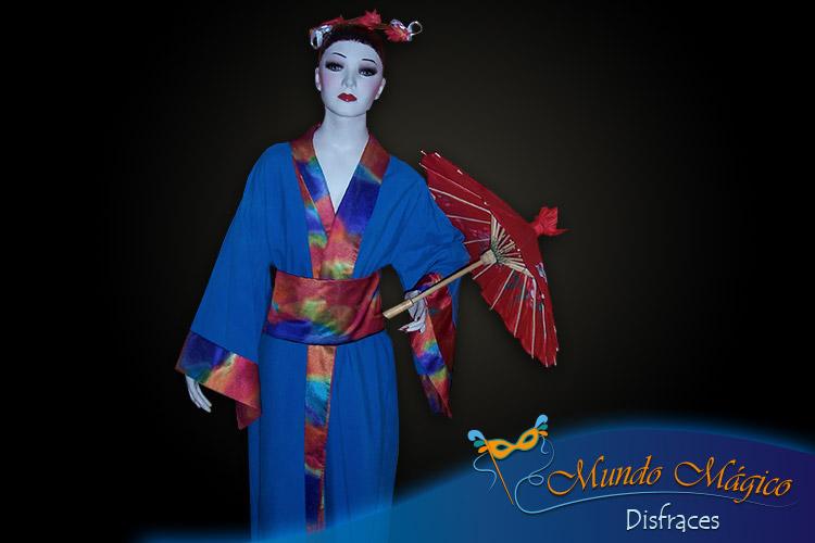 Japonesa azul-acuarela