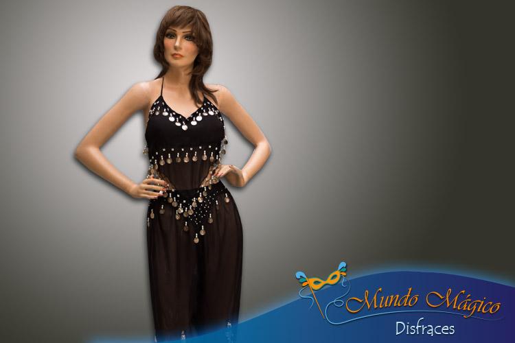 traje árabe en color negro
