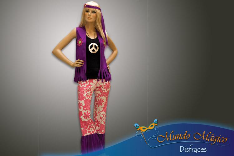 Hippie pantalón rosa y lila