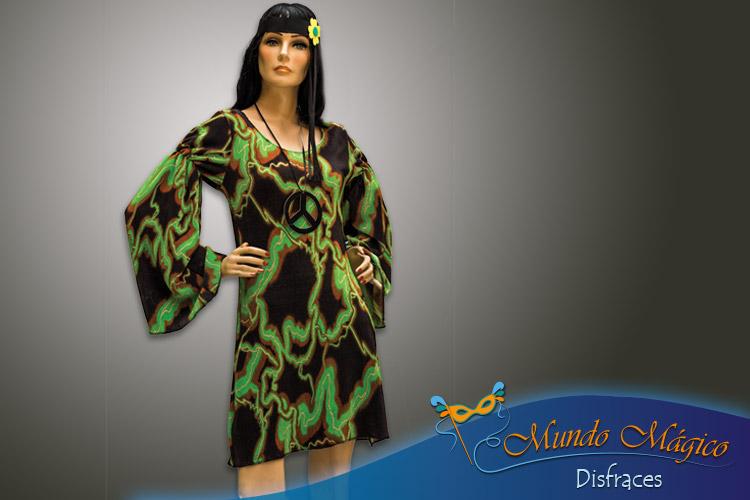 Vestido verde hippie