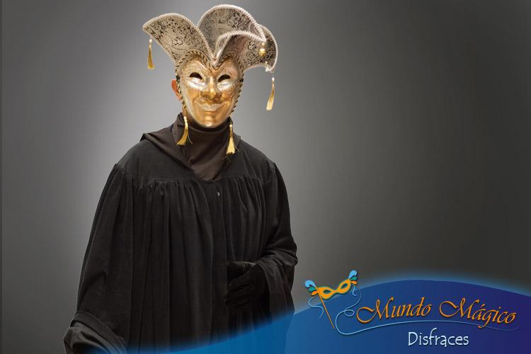 carnaval de venecia, máscara con sombrero en puntas