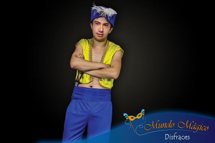 Aladino amarillo y azul
