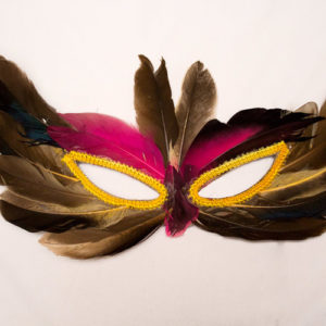 Antifaces plumas
