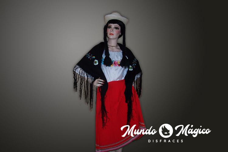Indígena falda roja